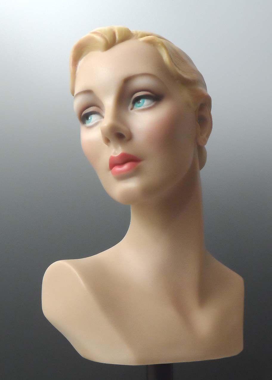 art deco vintage style mannequin head bust by decoeyes mannequin heads art deco and vintage. Black Bedroom Furniture Sets. Home Design Ideas