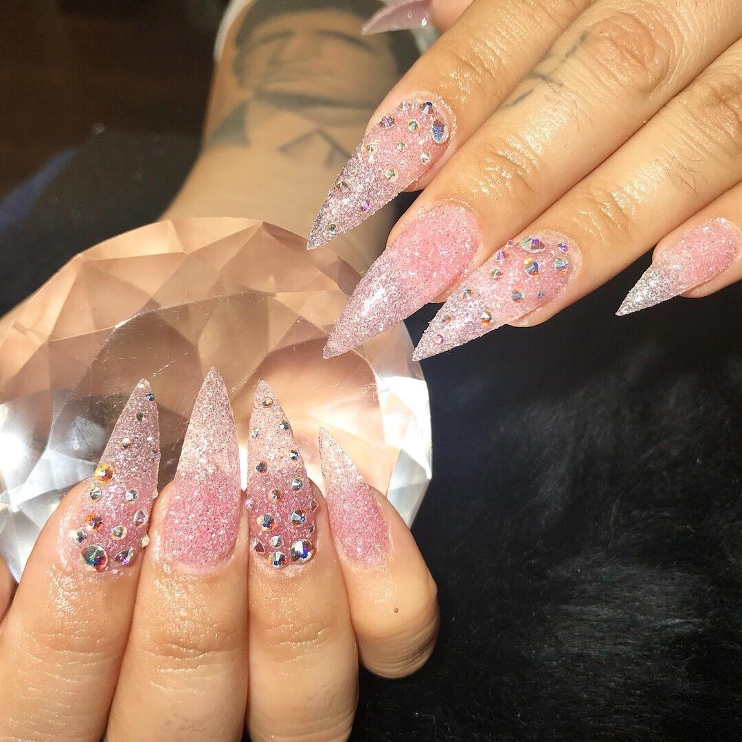 Fullset W Gel 40 Acrylic Nails Natural Nails Gel Polish Nails Pedicure Nail Art Manicure