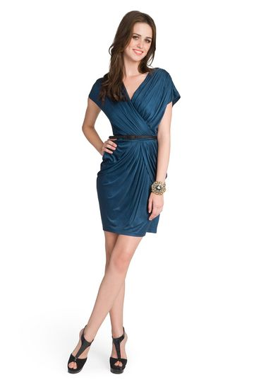 love the jewel tones, I would wear this with tights and a heel for a great fall look