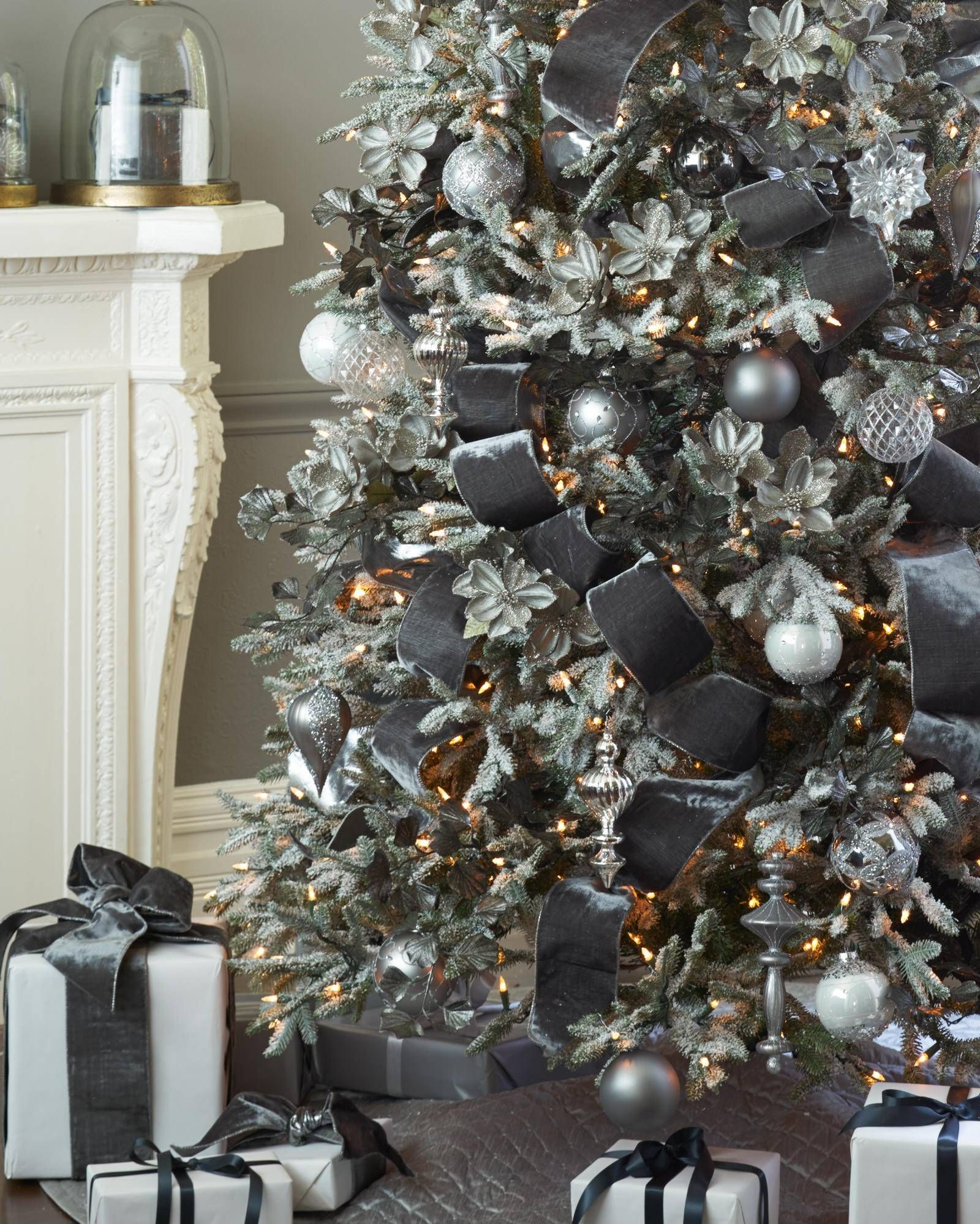 Image result for Designer Christmas tree in copper blue and