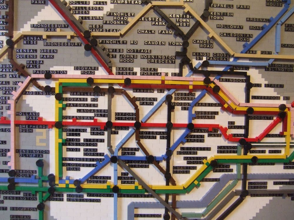 London Tube map made of Legos