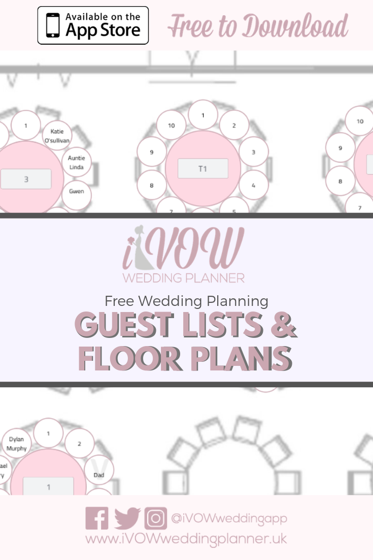 free guest list and floor plan on ivow wedding planner app