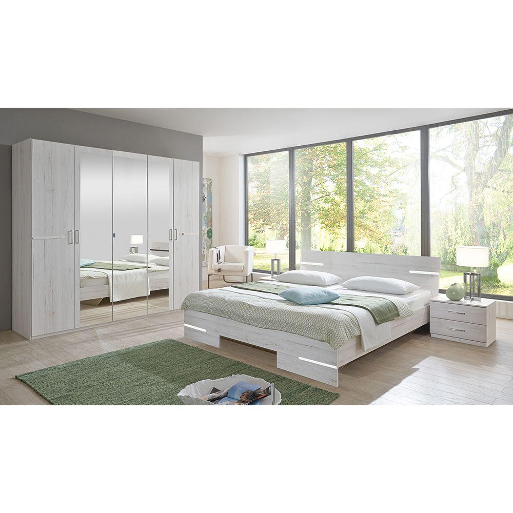 Schlafzimmer Set Anna Bett 180x200 mit 5trg. Kleiderschrank ...