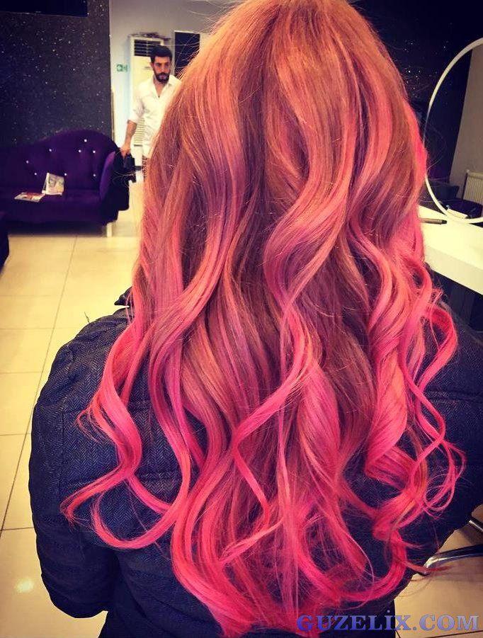 Ombre Hair Color Wavy Hairstyles En Guzel Sac Modelleri Sac