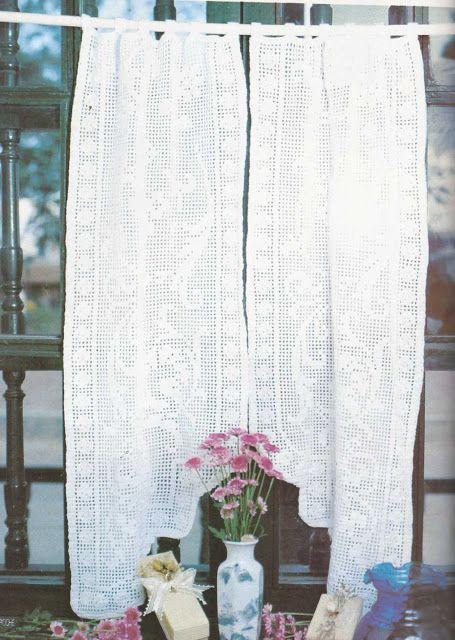Patrón #1191: Cortina a Crochet | CTejidas [Crochet y Dos Agujas]