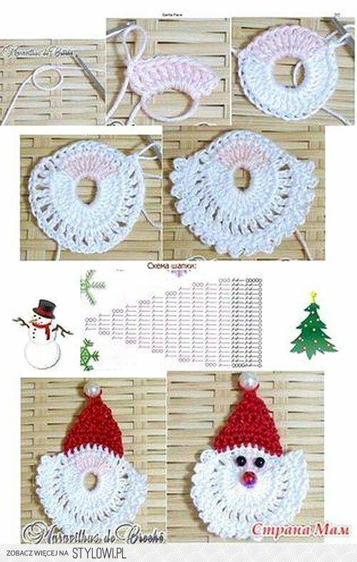 Pin de monika bilska en szydełkowanie   Pinterest   Navidad y Tejido