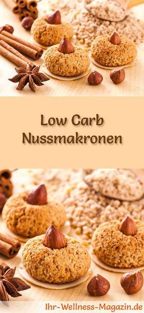 Low Carb Nussmakronen - einfaches Plätzchen-Rezept für Weihnachtskekse #lowcarbdesserts