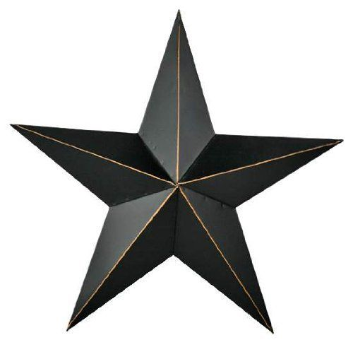 11 Rustic Black Primitive Metal Barn Star Wall Decor By Unknown Http