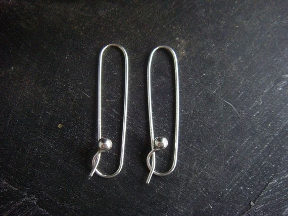 Safety Pin Earrings Sterling Silver Threader