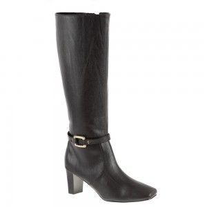 Medium heel boot shoe for women, a casual, everyday shoe in black color by Annie at $79.00