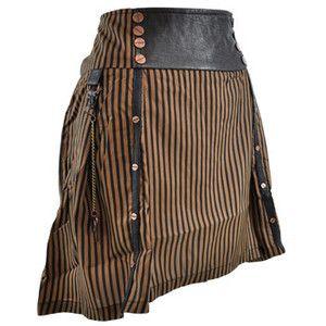 Living Dead Souls Stripe mini skirt – LDS miniskirts – womens mini skirts UK