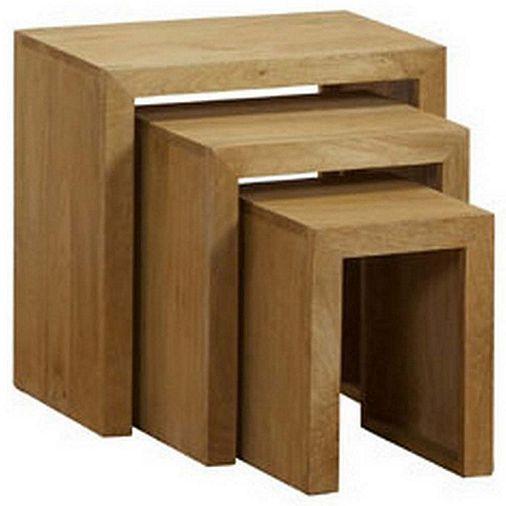 Homescapes dakota nest of 3 tables oak shade tesco direct tables homescapes dakota nest of 3 tables oak shade neststesco direct watchthetrailerfo