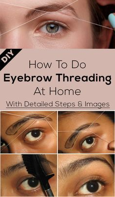 How To Thread Eyebrows - A Step By Step Tutorial in 2020 ...