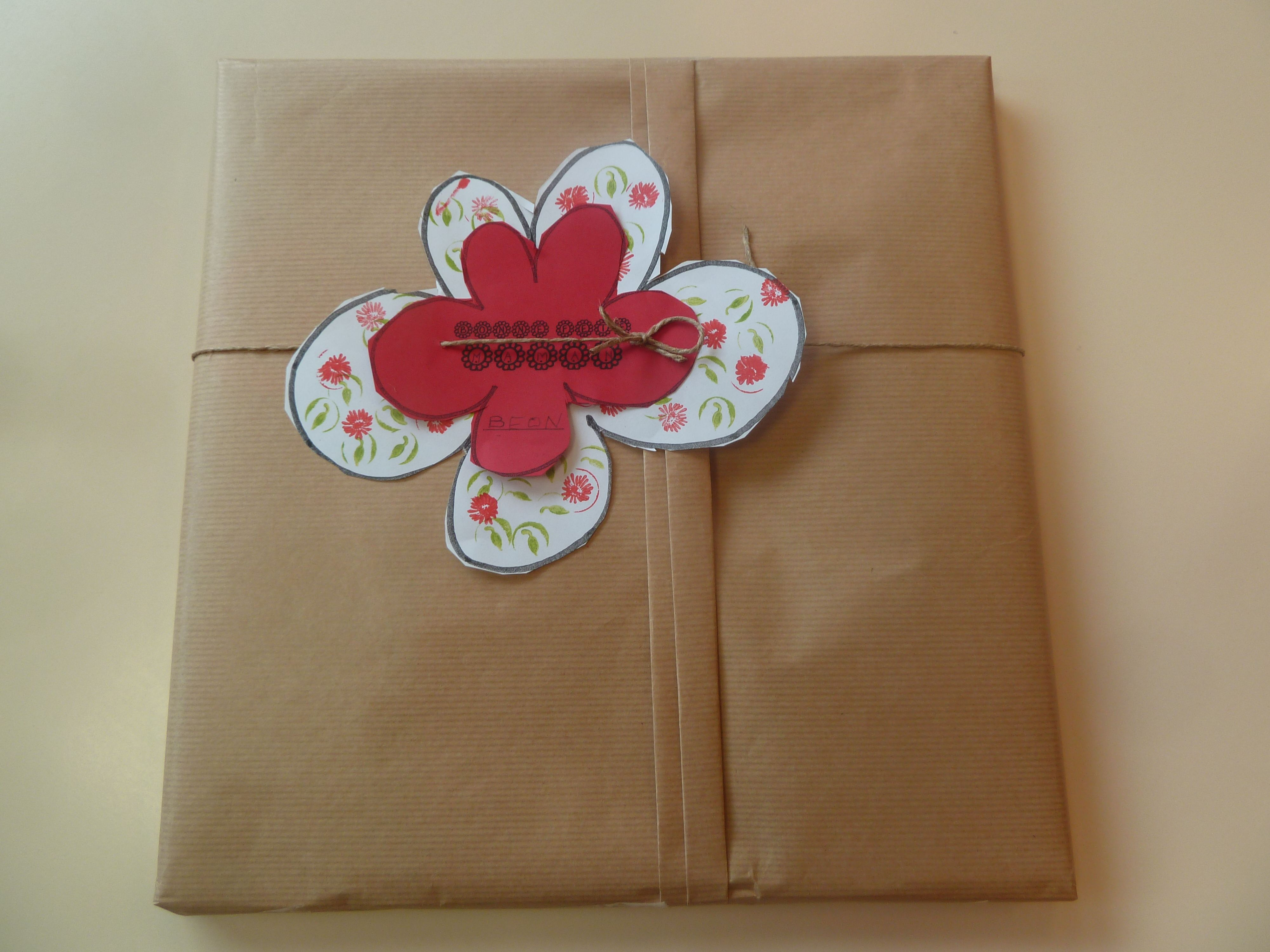 Emballage cadeau fête des mères 2013.
