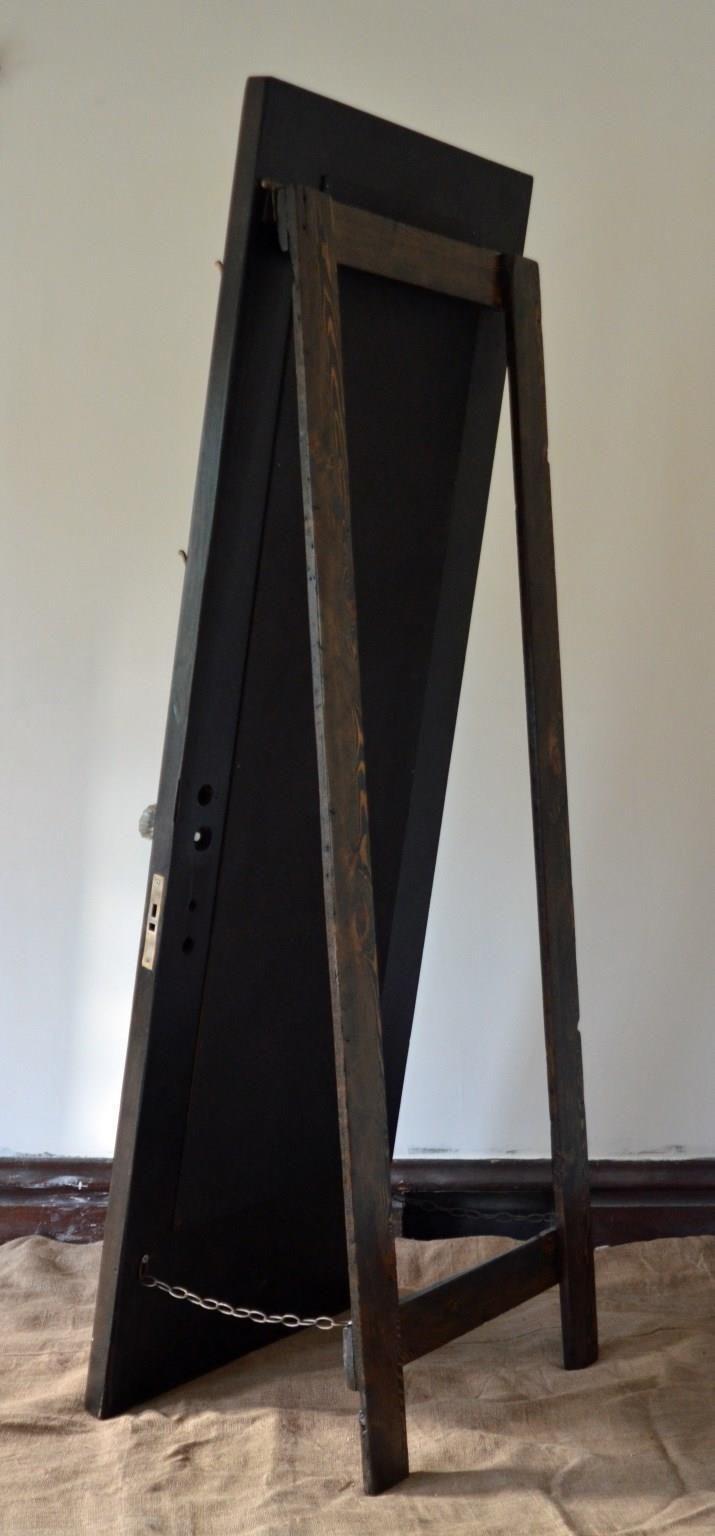 Vintage Door Full Length Standing Mirror With Hooks From Eco Friendly Diy Standing Mirror Diy Mirror Standing Mirror