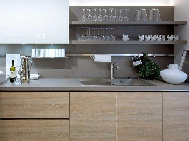 Bildergebnis Fur Kuchenruckwand Betonoptik Kuche Kitchen
