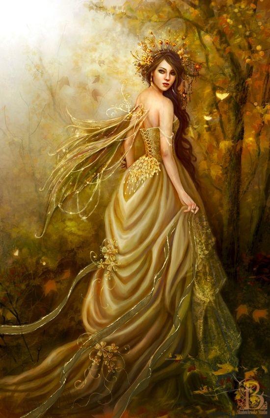 самыми картинка красивой золотой феи внешний вид