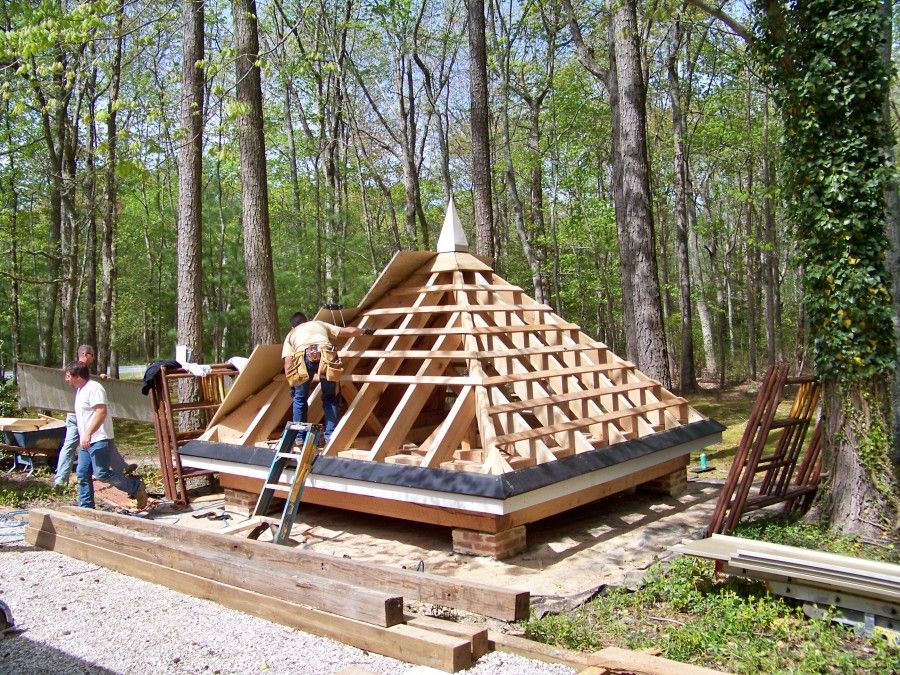 How To Build A Pyramid Roof Google Search Pyramid