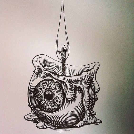 Creuser ce rad #eyeball #candle #sketch par le @glennoart impressionnant qui a un portefeuille