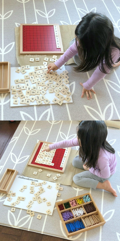 Montessori Pythagoras Board And Bilingual Multiplication