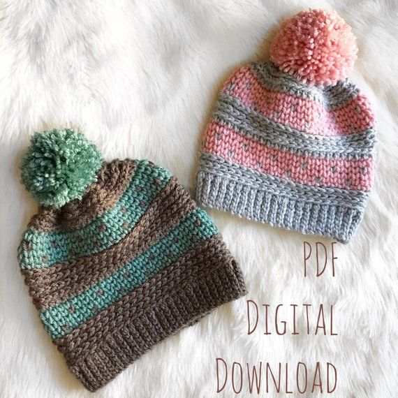 The Riverstone Beanie PDF DIGITAL DOWNLOAD Crochet Pattern afc1d5289ad