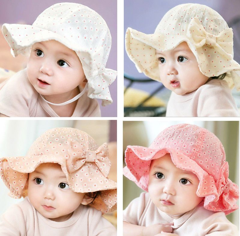 91d21763e88 Girl Baby Newborn Kids Bucket Floral Hat Cap Beanie Bonnet Hair Accessories  Gift
