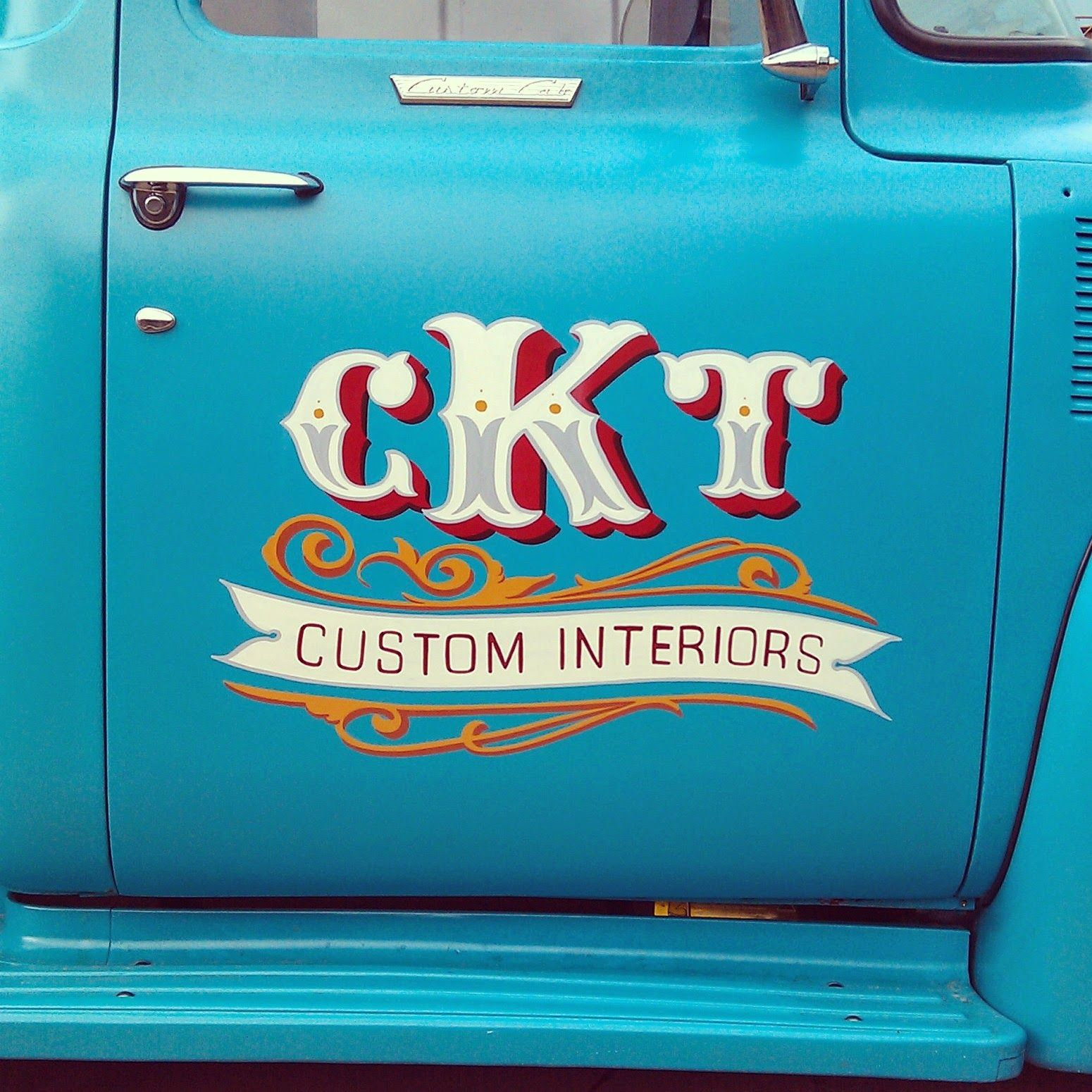 Ckt pick up signs sign writing truck lettering