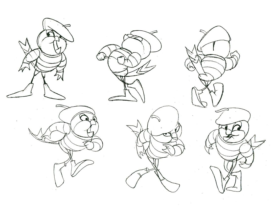 Model sheets and production art for Jacquimo, a character ...