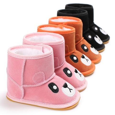 9dc4d2dbfeb Raise Young Cartoon Bear Winter Plus Velvet Warm Baby Booties Rubber Soles  Toddler Girl Snow Boots Newborn Infant Boy Shoes