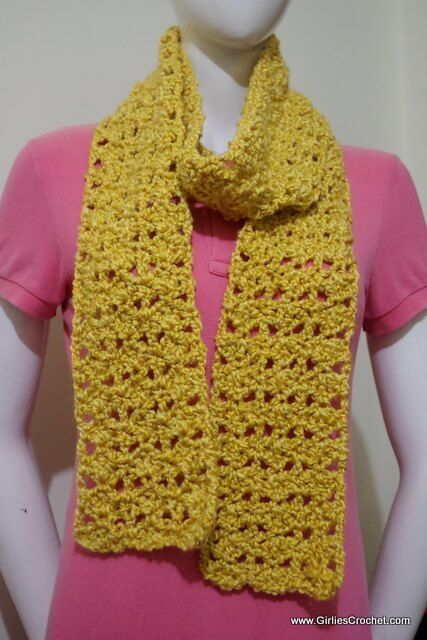 Free Crochet Pattern Mandy Scarf With Photo Tutorial In Each Step