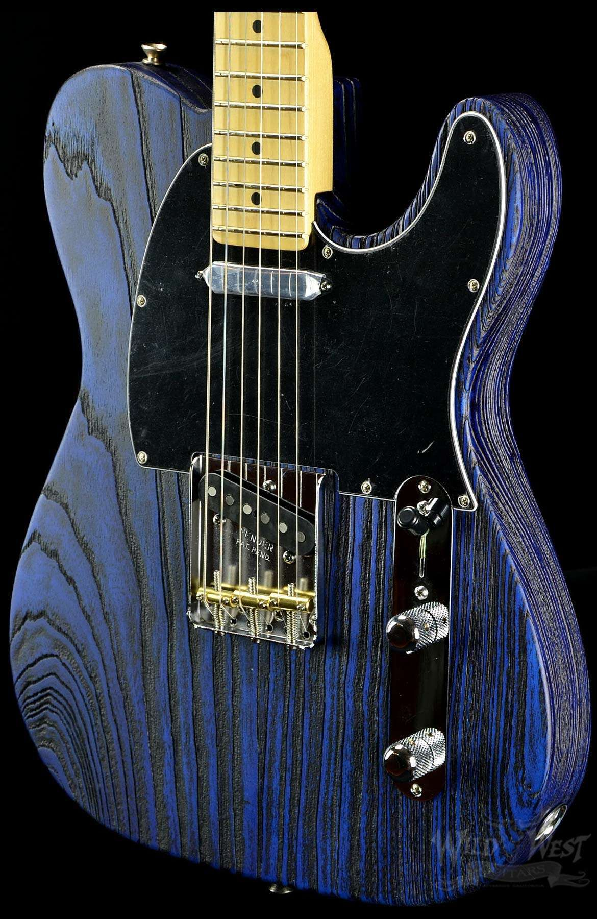 Fender Usa Limited Edition Sandblasted Telecaster Sapphire Blue Home Electrics Rare Finds Used Vintage Hofner 463 S E3 Archtop Transparent Wild West Guitars