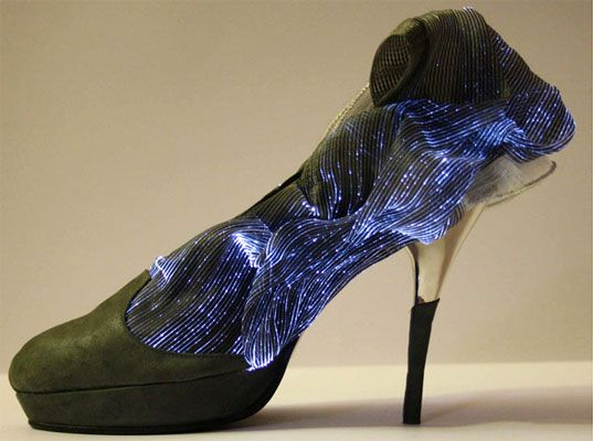 fiber optic stilettos shine with both light and sophistication