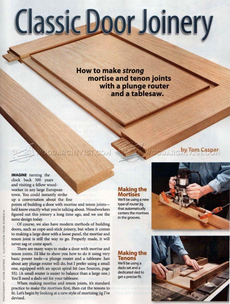 1601 Classic Door Joinery - Cabinet Door Construction Techniques ...