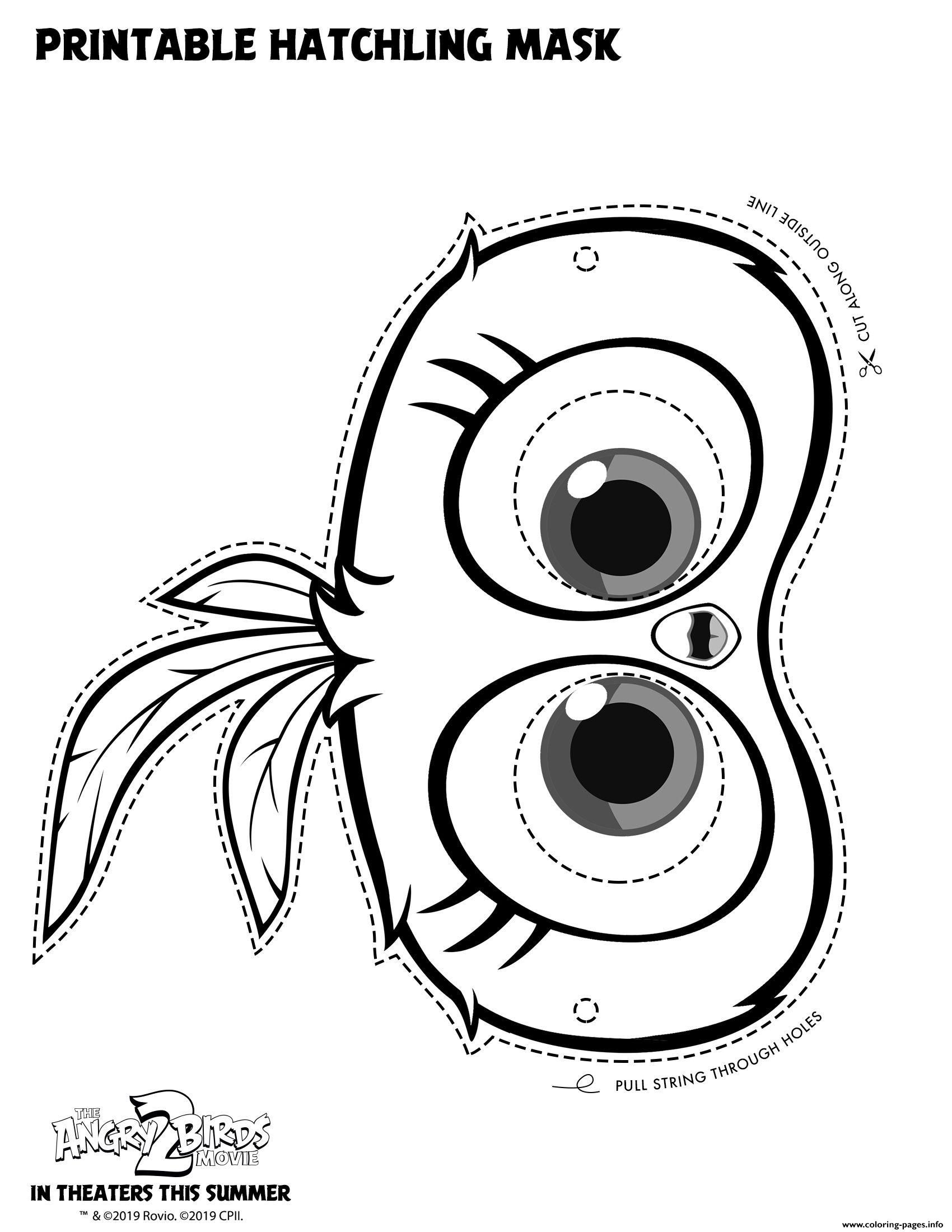 Print Hatchling Mask For Angry Birds 2 Coloring Pages Bird Coloring Pages Coloring Pages Angry Birds Movie