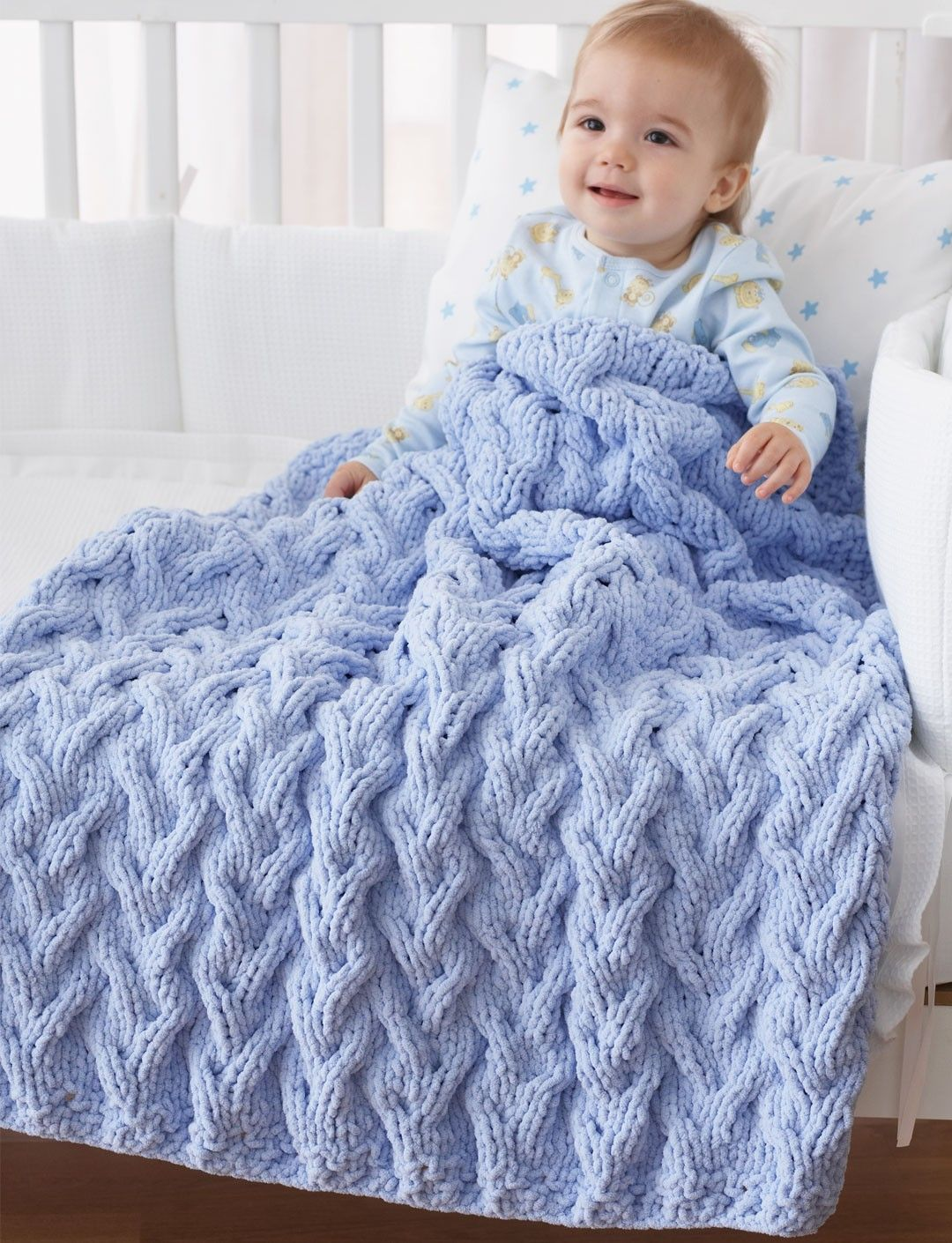 Knitting Blankets For Babies : Cable afghan knitting patterns blanket and