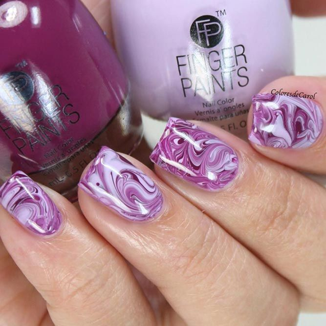 Marble Nails: Easy Way to Create Trendy Manicure   Marble art, Lazy ...
