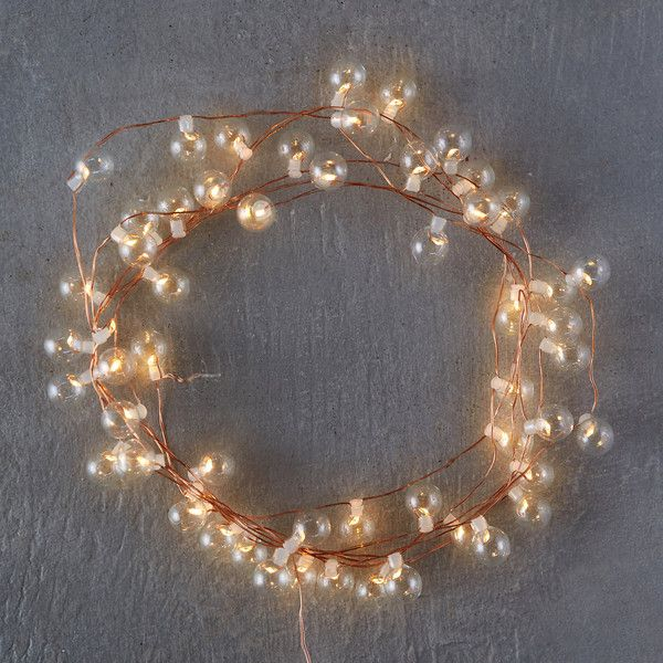 Stargazer Glass Bubble Lights, 40\u0027 Plug-In ($78) ❤ liked on