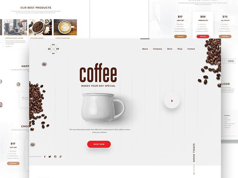 Coffee Landing Page Coffee Presentation Coffee Advertising Coffee Site