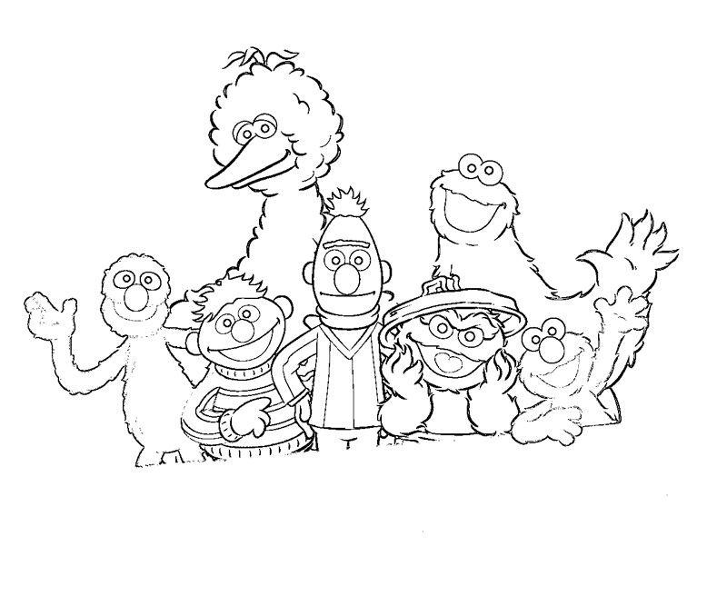 sesame street drawings   Sesame Street 4 Coloring   drawing ideas ...