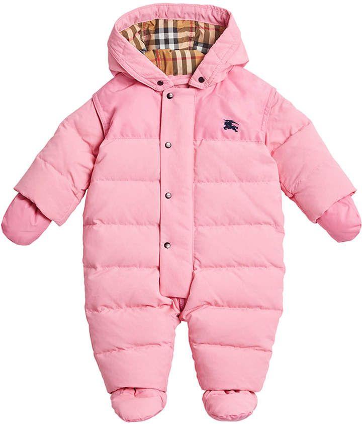 Burberry Ezra Hooded Puffer Snowsuit, Size 6-18 Months