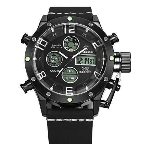 Tamlee Army Military Sport Mens TM106 AnalogDigital Chronograph Watch Black White * Details can be found by clicking on the image.