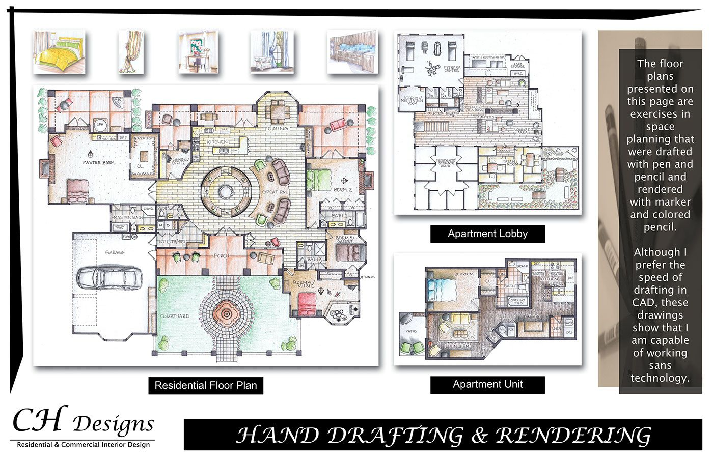 student interior design projects interior design Pinterest