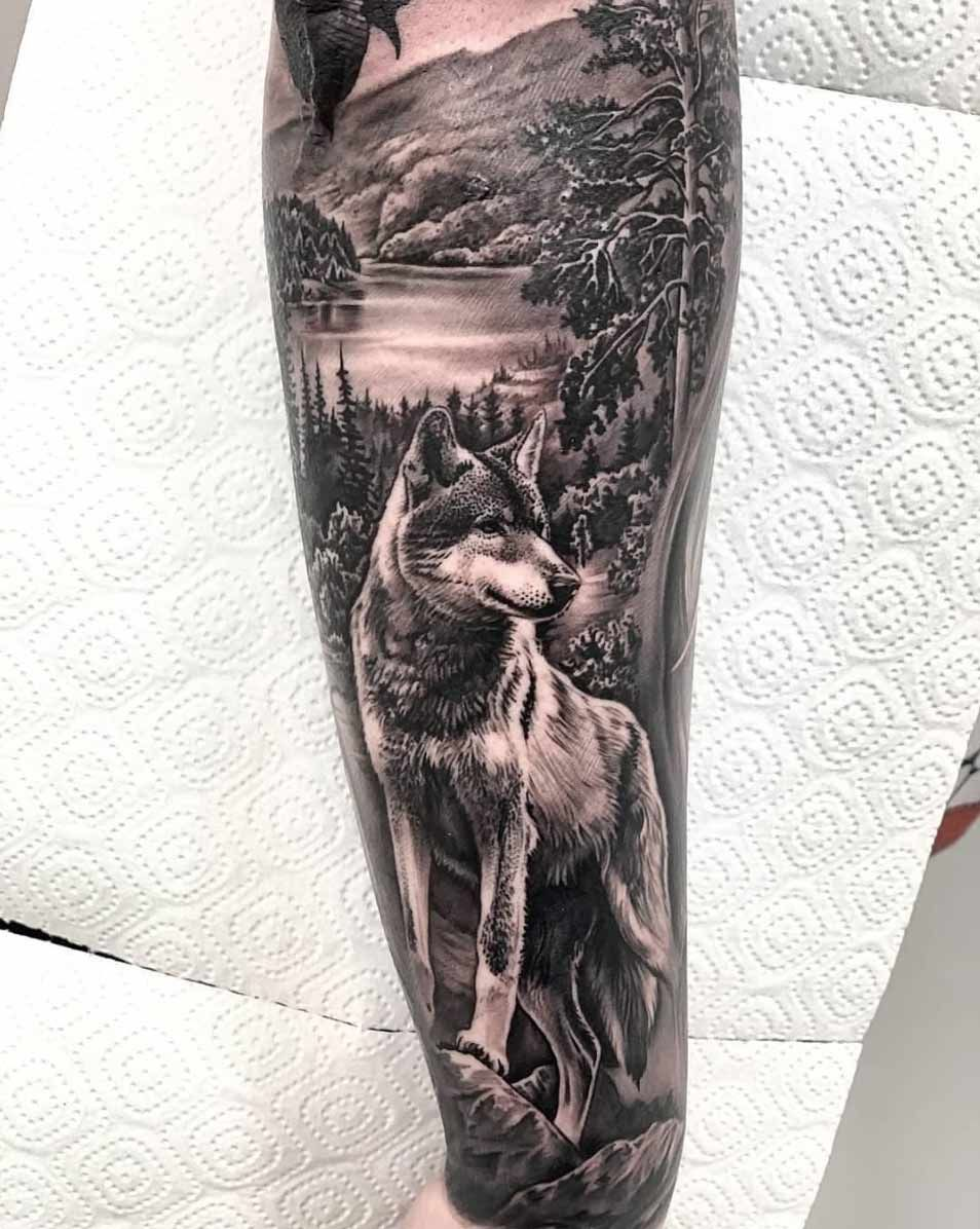 60 Amazing Wolf Tattoos The Best You Ll Ever See In 2020 Wolf Tattoo Forearm Wolf Tattoo Sleeve Wolf Sleeve