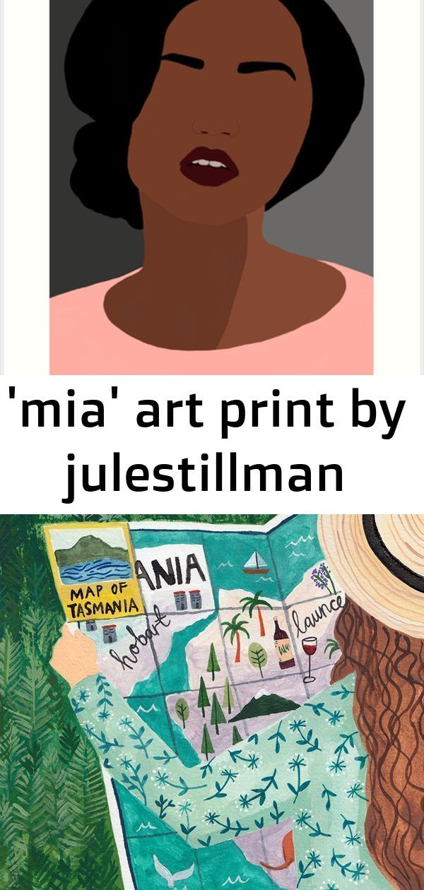 mia art print by julestillman Mia is the 9th in a series of minimal portraits I started making in 2016 that combine my background in and love for both collage and printma...