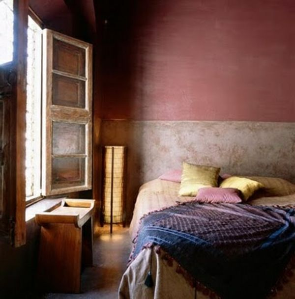 Altrosa Wandfarbe verleiht dem Ambiente Zärtlichkeit Zukünftige - wandfarbe im schlafzimmer