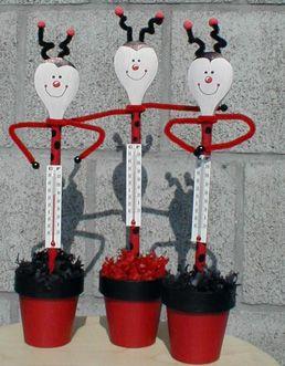 Moederdag Pollepel Bloempot En Thermometer Moederdag