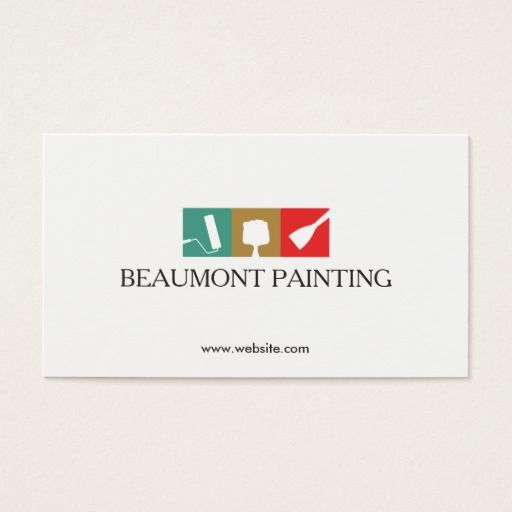 Painting logos business exclusive clipart house painter logo business card construction carpentry rh pinterest com au painting logos business cards painting colourmoves