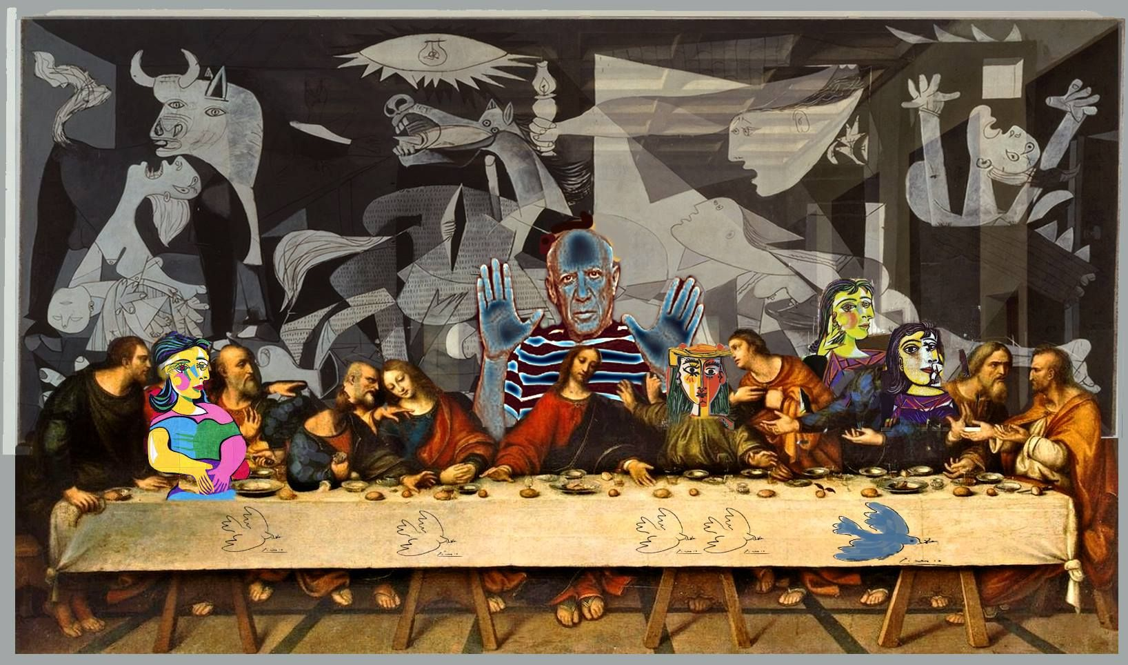 Picasso s Last Supper with a few of his wives and other guests by