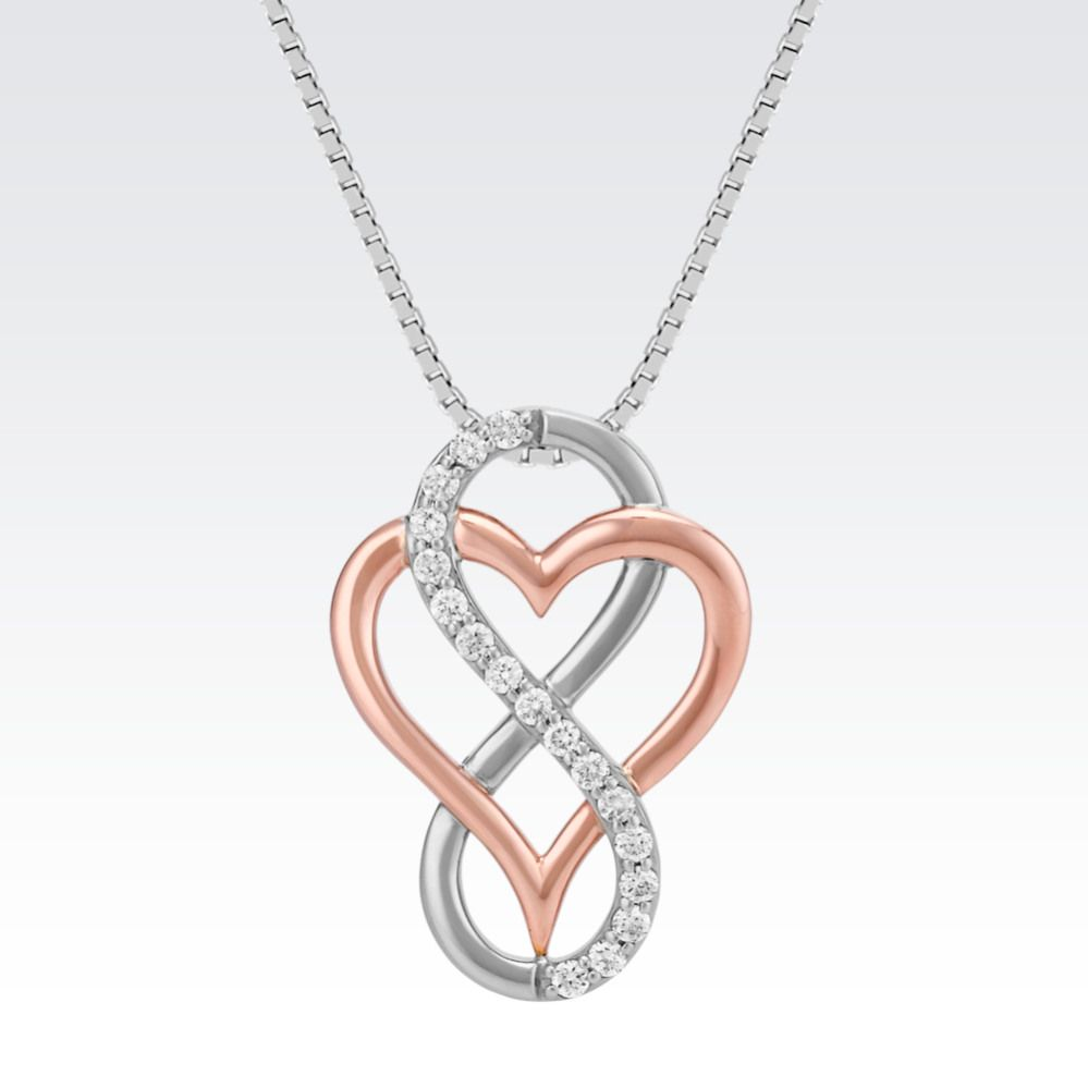 Two symbols become one creation in this pendant featuring a heart two symbols become one creation in this pendant featuring a heart and infinity sign the buycottarizona Choice Image