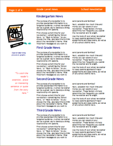 School Newsletter  Column  Pages Download At HttpWww